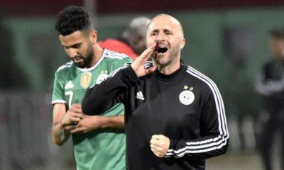 Riyad Mahrez et Djamel Belmadi