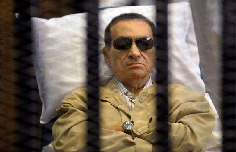 Hosni Moubarak , le président égyptien.