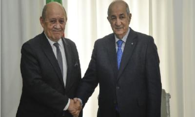 Jean-Yves Le Drian et Abdelmadjid Tebboune