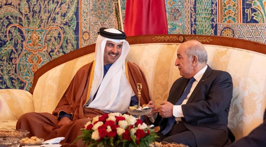 Cheikh Tamim Ben Hamad Al-Thani et Abdelmadjid Tebboune
