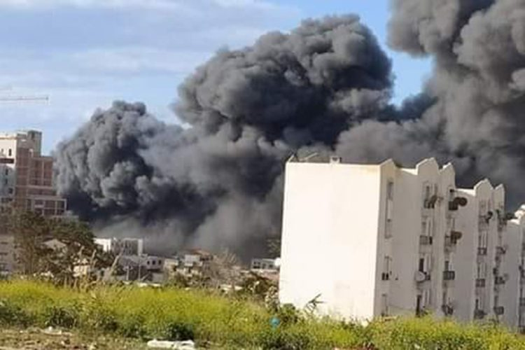 Incendie Bazar Dubaï Alger