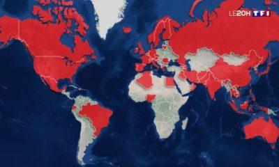 Coronavirus monde propagation