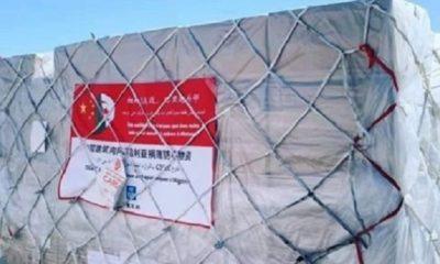 Arrivage de Chine de la première commande des moyens de protection contre le Coronavirus