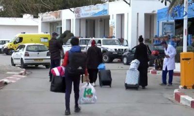 Arrivée des algériens bloqués en Turqui