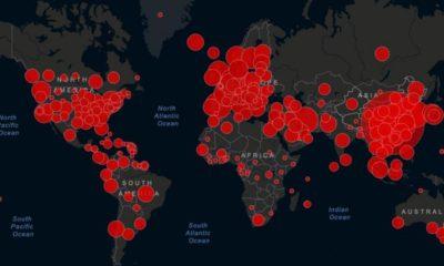 Carte du Coronavirus dans le monde