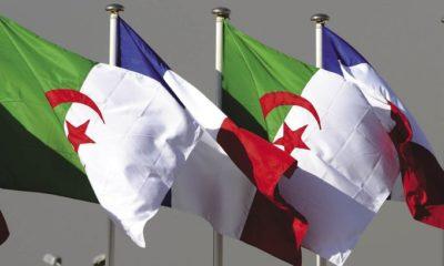 Drapeau Algérien et Francais