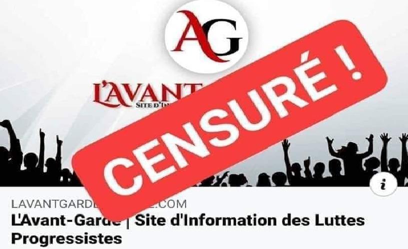 """Après DzVID et Le Matin : le site """"L'Avant-Garde"""" censuré"""