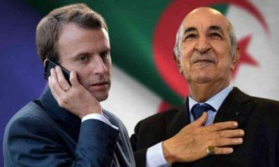 Entretien téléphonique Tebboune-Macron