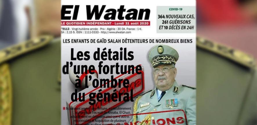 La famille du général Gaïd Salah dépose plainte contre El Watan