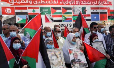"""Les Palestiniens dénoncent les """"accords de la honte"""""""