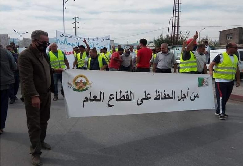 Marche et rassemblement des travailleurs à Béjaïa contre les licenciements