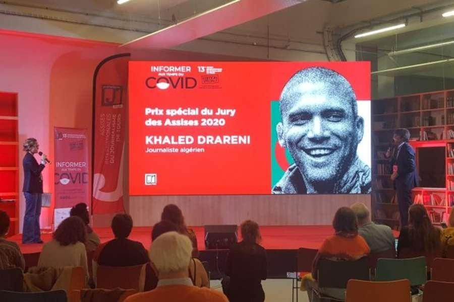 Assises du journalisme 2020 : Khaled Drareni reçoit le Prix spécial du jury